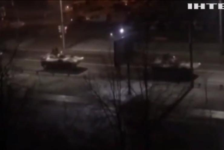 У Білорусі зафільмували дві колони військової техніки