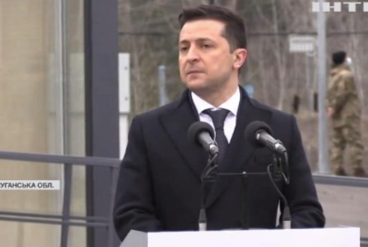Голова Європейської ради відвідав пункт пропуску в місті Щастя