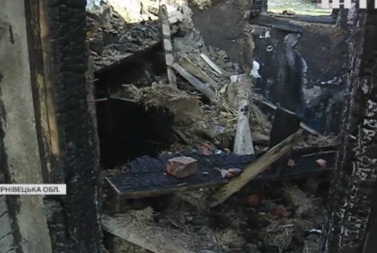 Пожежа на Буковині залишила багатодітну сім'ю без даху над головою