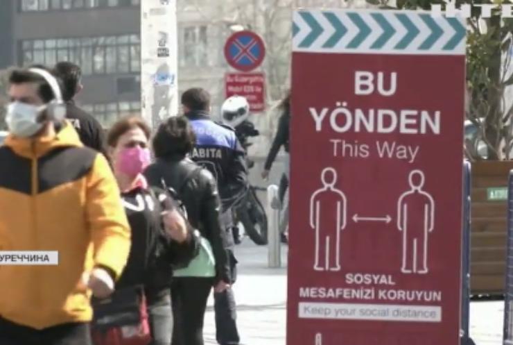 Туреччина лідирує в Європі за поширенням COVID-19