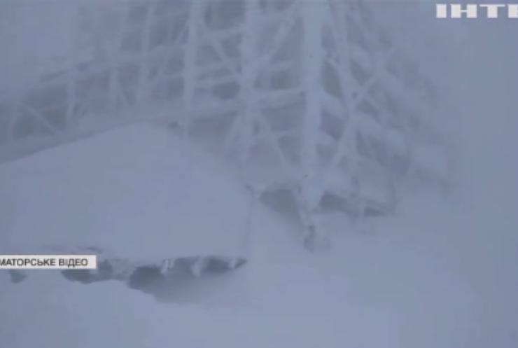 У Карпатах вирують снігопади і вітри