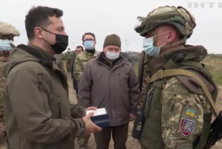 Володимир Зеленський відвідав позиції ЗСУ