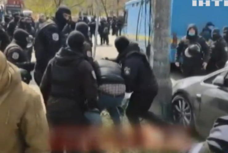 Демонтаж МАФів: у Києві відбулася бійка між поліцією і підприємцями