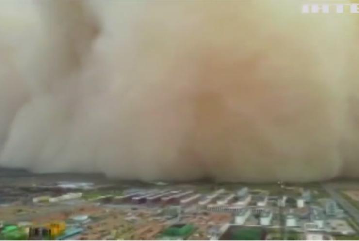 Китайську провінцію Гань-су накрила пилова буря