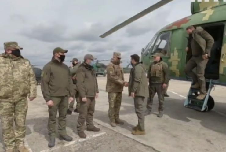 Володимир Зеленський відвідав українських військових