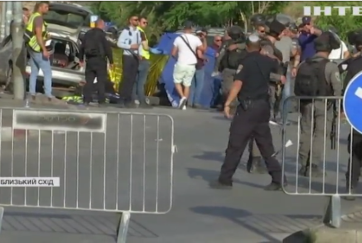 В Єрусалимі водій протаранив поліцейський пост