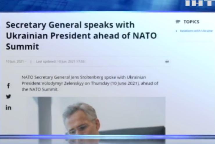 Володимир Зеленський обговорив з Генсеком НАТО безпеку України