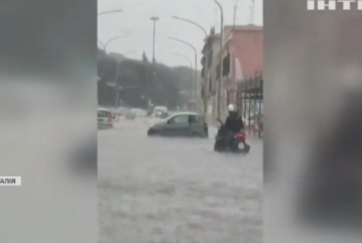 Північні райони Рима потерпіли від потужної зливи