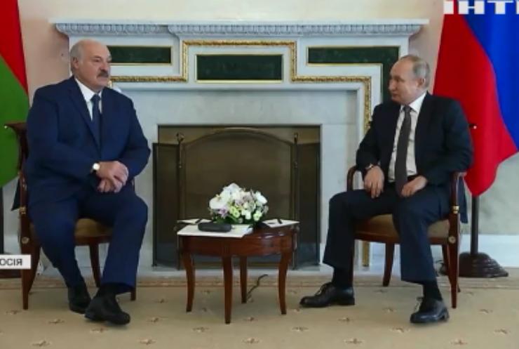 У Санкт-Петербурзі відбулась зустріч Володимира Путіна та Олександра Лукашенка