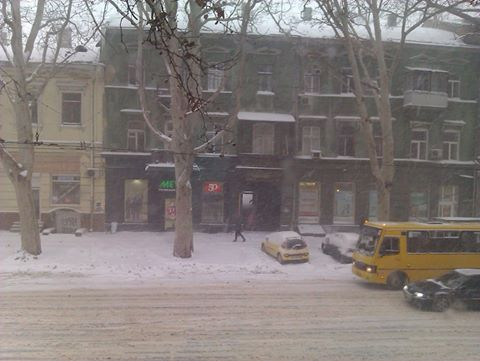 Одессу занесло снегом потерялась