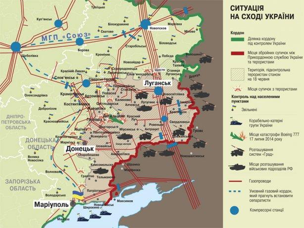 газопроводов в Луганской и