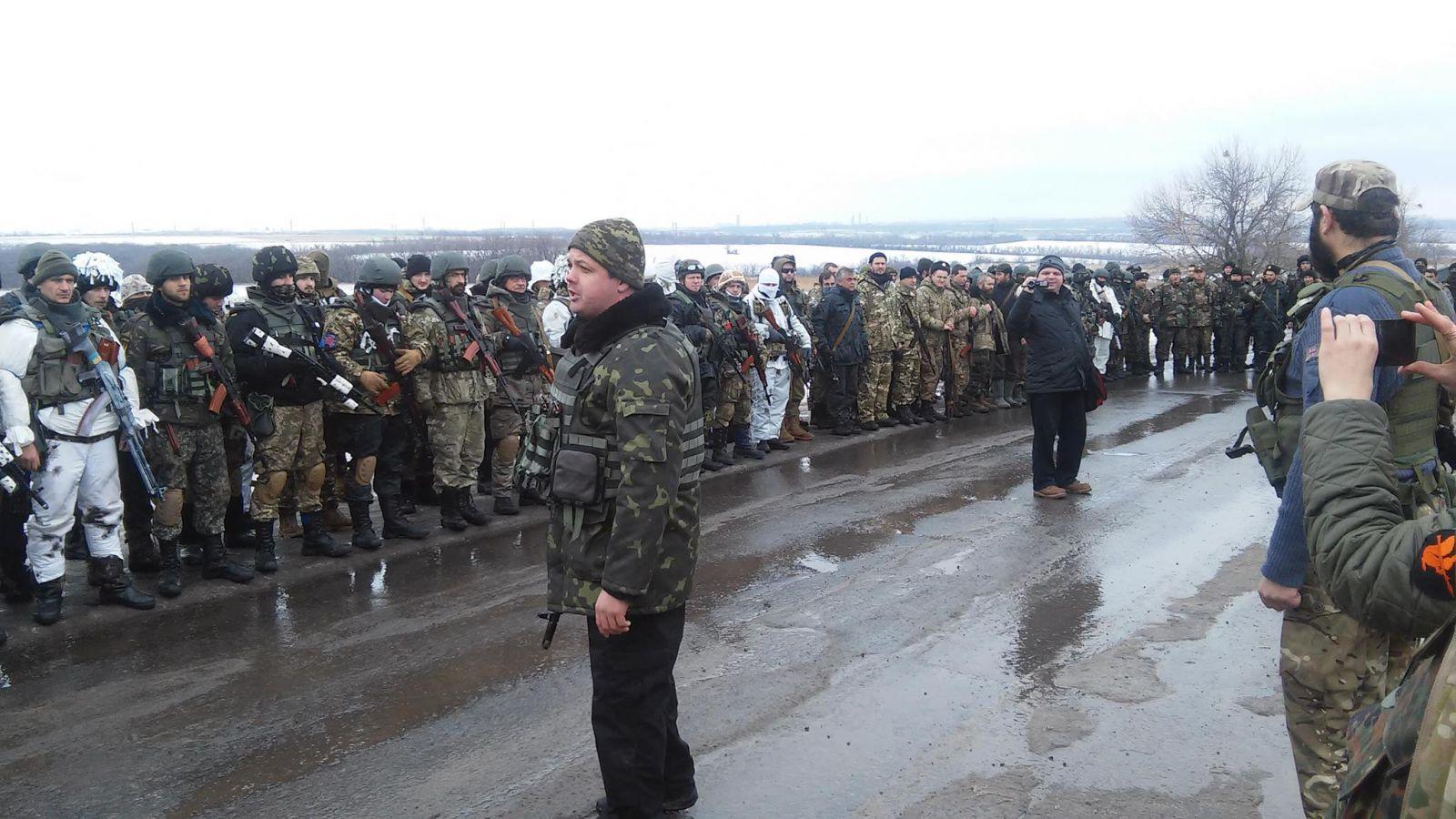Торжественная речь С. Семенченко перед участниками блокады ЛДНР