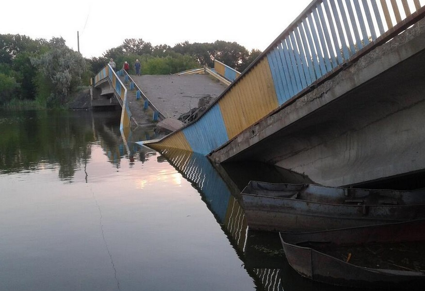Попасная мост через речку