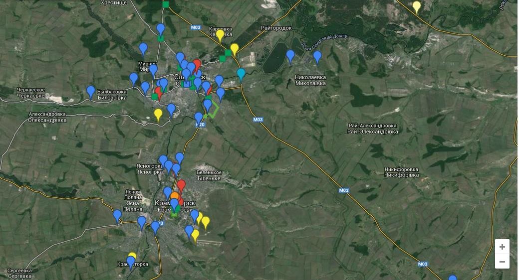 Краматорск и Славянск окружены