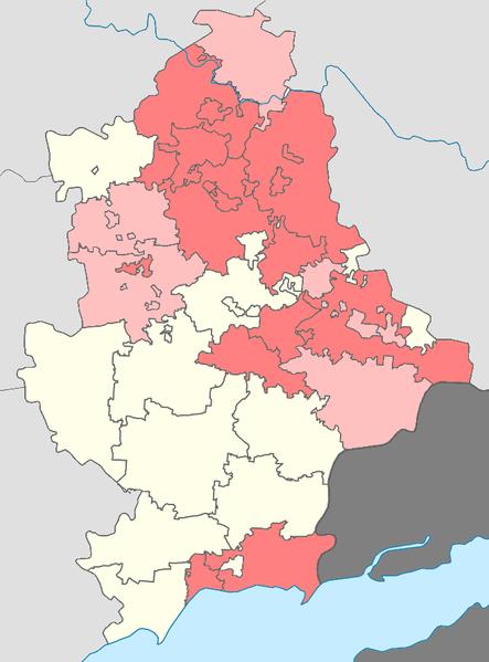 же карта, находятся Донецк