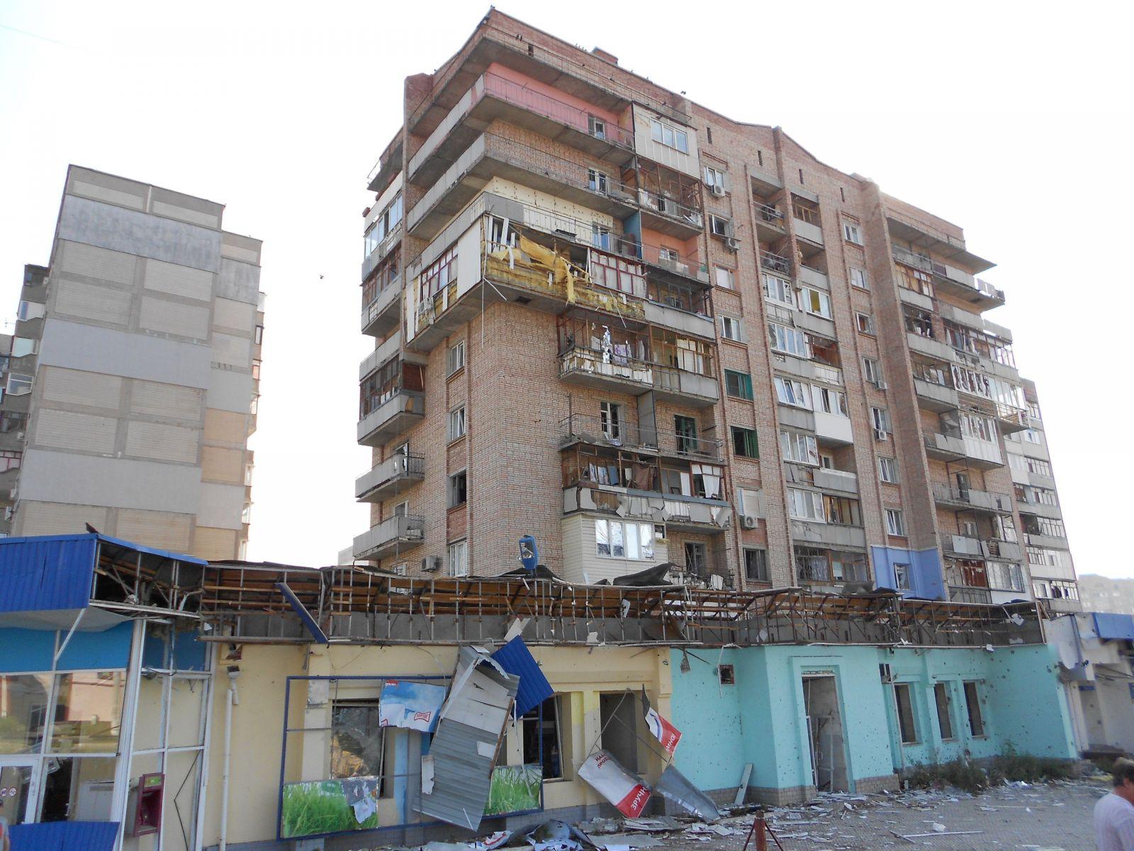 Места попадания снарядов луганск