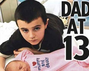 13-летний отец Альфи Паттен. Фото News.online.ua
