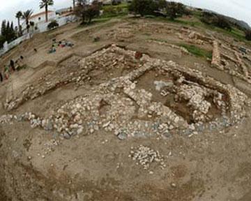 Обнаружены контуры треугольного храма, состоящего из двух комнат. Фото Cyprus Weekly