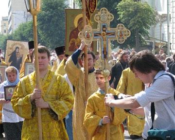 По Киеву идет Крестный ход
