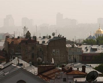 Смог в Киеве навеяло с торфяников и горящей мусоросвалки