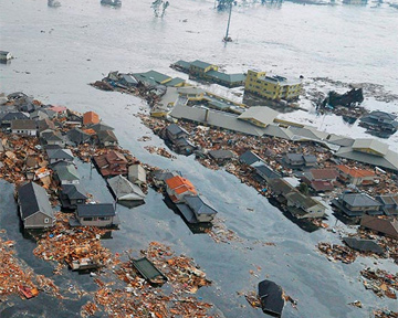 В Японии прорвало дамбу: Вода смывает дома