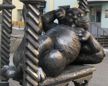 В России открыли памятник Йошкиному коту