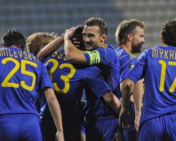 В Киеве сборная Украина закатила три мяча в ворота болгар