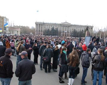 В Николаеве на митинге потребовали вернуть смертную казнь (обновлено)