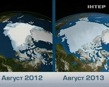 """Площадь ледяного покрова Арктики увеличилась аж на 60 процентов. Кадр ТК """"Интер"""""""