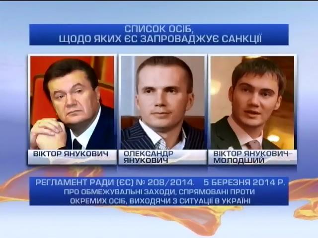 ЕС замораживает счета 18 украинцев в европейских банках (видео)