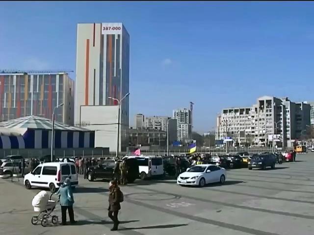 В Днепропетровске прошел автопробег в поддержку украинских военных (видео)