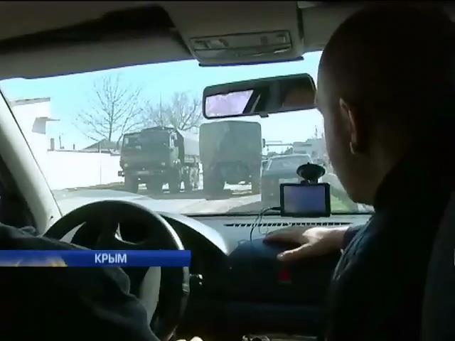 Сегодня на границах Крыма наблюдали предвижение военной техники (видео)