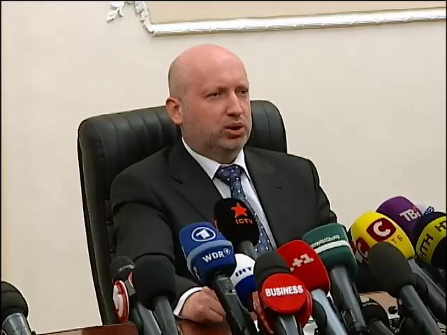 Турчинов призвал украинцев не поддаваться панике и сохранять единство (видео)