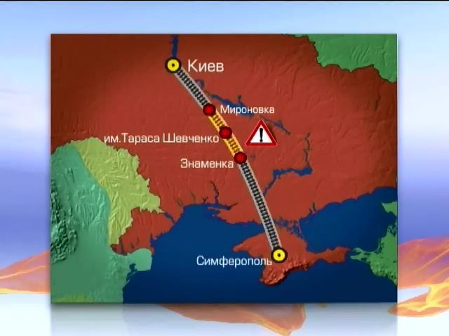 """""""Укрзалiзниця"""" не планирует прерывать транспортное сообщение с Крымом (видео)"""