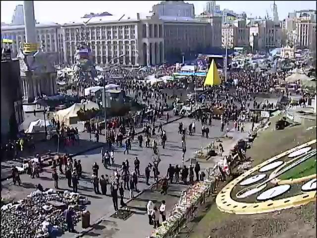 На Майдане прошло традиционное вече (видео)