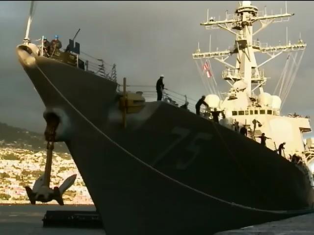 """США отправили в Черное море эсминец """"Дональд Кук"""" (видео)"""