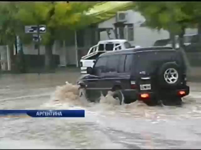 В Аргентину пришел сильнейший за 40 лет ураган (видео)