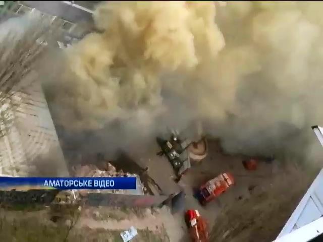 В столице горел супермаркет (видео)