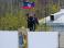 Над городским советом Артемовска митингующие установили российский флаг