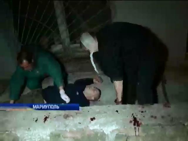 В Мариуполе похоронили погибшего при штурме воинской части (видео)
