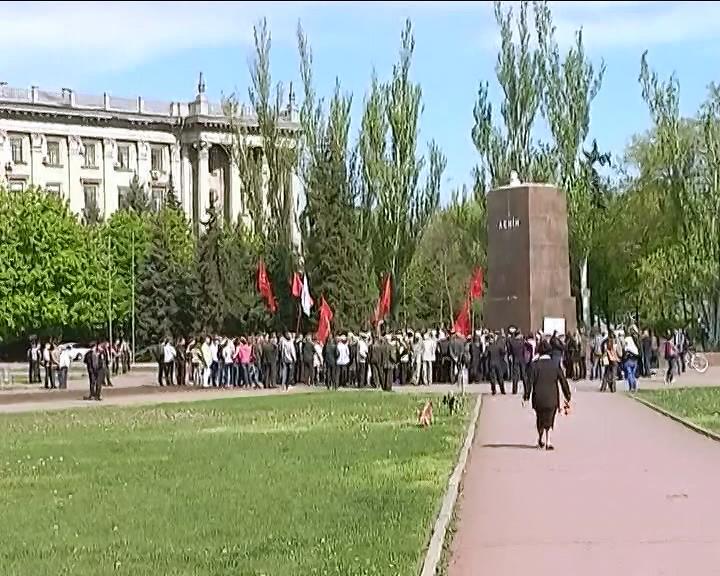 Николаевские коммунисты требуют вернуть памятник Ленину (видео)