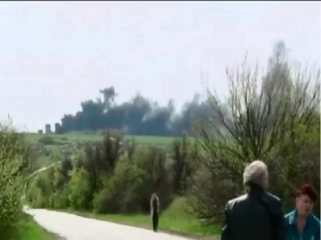 Жителям Славянска рекомендовали не покидать домов из-за проведения АТО (видео)
