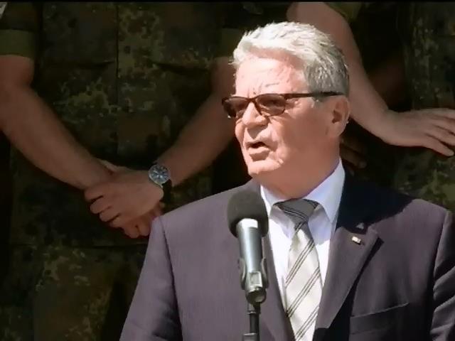 Президент Германии осудил задержание миссии ОБСЕ (видео)