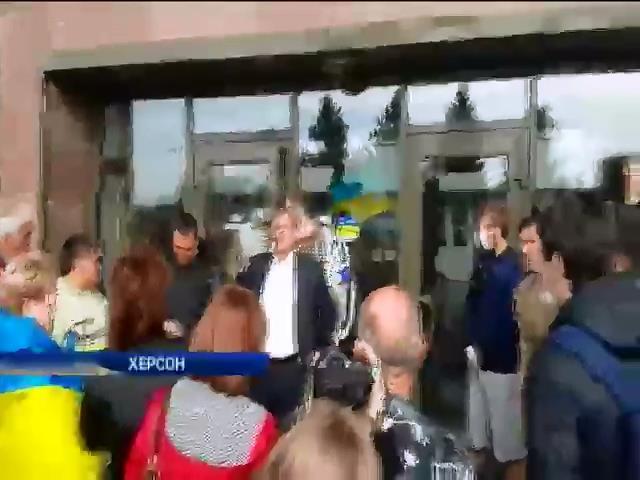 Михаила Добкина не пустили в Херсон (видео) (видео)