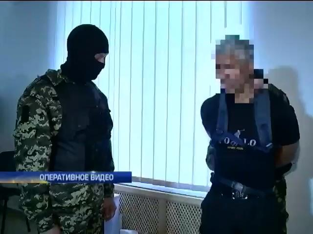Под Днепропетровском СБУ задержала диверсанта  в шалаше (видео) (видео)