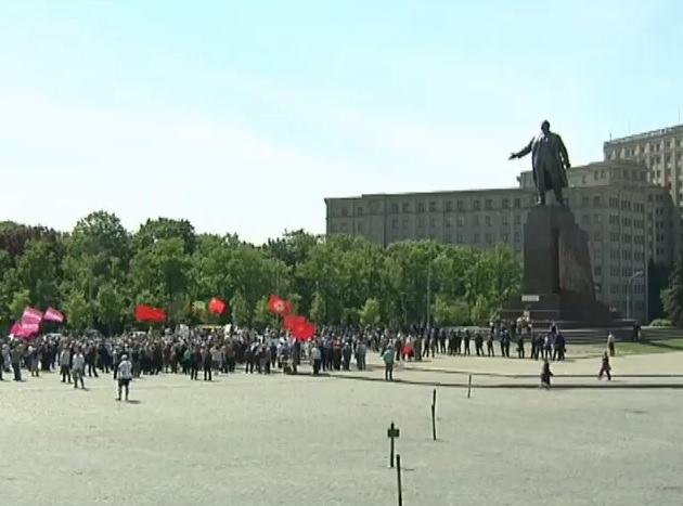 В Харькове митинговали сторонники федерализации (видео)