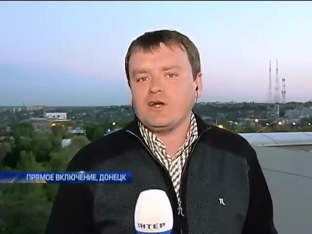 Боевики блокируют воинскую часть в Донецке (видео) (видео)