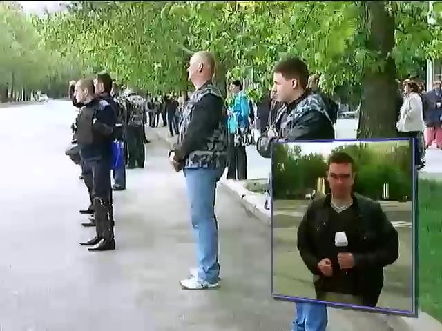 В Николаеве задержали пророссийских активстов с битами и топорами (видео)