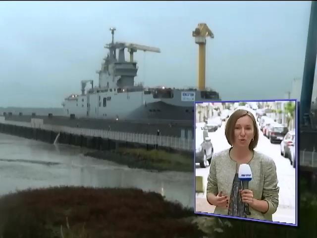 Франция продолжает строить вертолетоносцы для России (видео)
