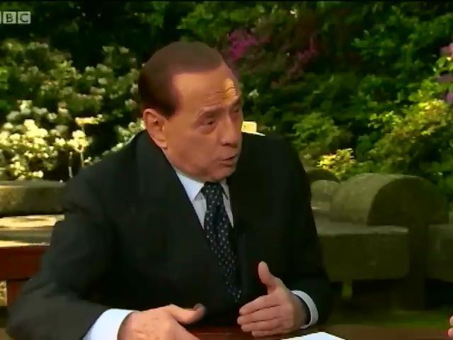 Сильвио Берлускони дал откровенное интервью ведущему BBC Джереми Паксману (видео)